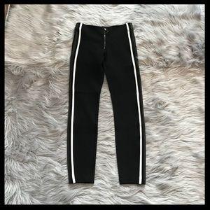 Zara Double Side Stripe Scuba Leggings